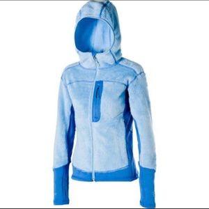 Women's Mountain Hardwear Blue Fleece, Size M